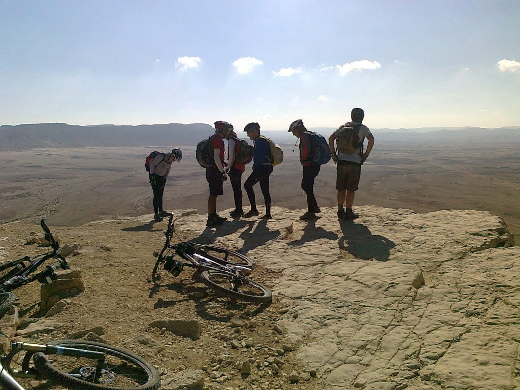 on the edge of the Ramon crater
